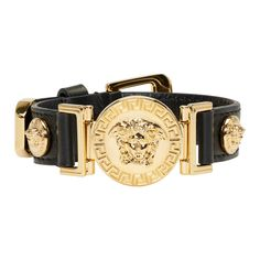 Versace Brand, Versace Men, Gianni Versace, Gold Leather, Smooth Leather, Leather Men, Modern Jewelry, Men's Jewelry, Jewellery