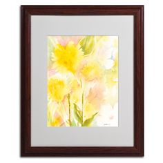 Butterfly Silhouette by Sheila Golden Matted Framed Painting Print