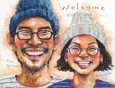 Saekoの似顔絵ウェルカムボード5