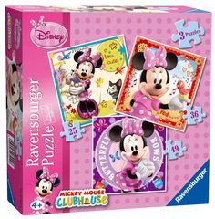 Ravensburger Puzzle - Disney Mickey Mouse Clubhouse - Minnie 3 in 1 (25,36,49 Pcs) (07244)  Manufacturer: Ravensburger Enarxis Code: 015901 #toys #puzzle #Ravensburger #Disney #Minnie
