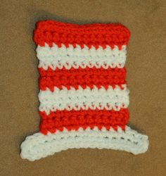 Paper, Needles n Sweets : The cat in the hat crochet applique