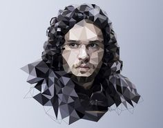 Low Poly Illustrations of 'Game of Thrones' Characters, created for a piece on The Washington Post.