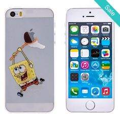 SpongeBob Transparent Back Cover Case for iPhone 5 & 5S - On Sale for $9.99 (was $22.50)