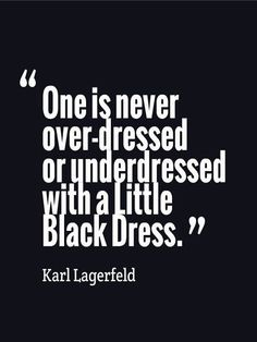 Lagerfeld knows his stuff...