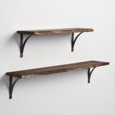 Create a custom wall shelving unit when you pair our rustic arched black iron brackets with any of our Mix & Match shelves.