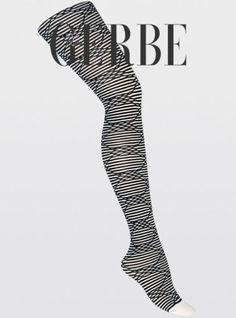 Paire-de-collant-GERBE-LUDIQUE-coloris-Noir-et-Blanc-Taille-4