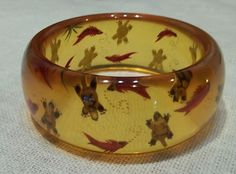 Applejuice Reversed Carved Under Water Sea Life Bakelite Bangle | eBay