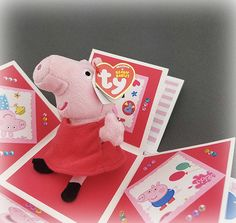 Handmade  Peppa Pig Exploding Birthday Box Card by CraftyGalCards