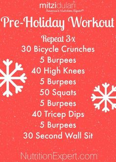 Pre-Holiday Workout for Home- NO EQUIPMENT NEEDED! Burn the fat with this simple workout!