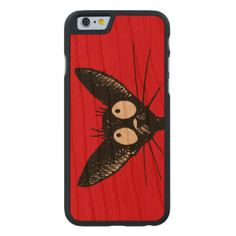 Cats, I love them, this funny little black oriental cat iPhone6 case is from a drawing by Paul Stickland, making a unique wooden cat phone case. Perfect for the cat lover! More cartoon cats and funny cat gifts on Strange Store. Click on customise to change the background colour from red to any colour you wish. #geek #funny #humor #paul #stickland #funny #cat #cute #cat #black #cat #cats #oriental #cat #cat #phone