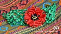 DIY Macramé Leaf Bracelet with Poppy #Macrame #Leaf