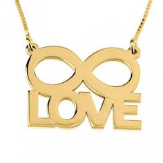 24K Gold Plated Silver Infinity Love Infinity Necklace