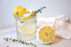 try this refreshing lemon and thyme cocktail