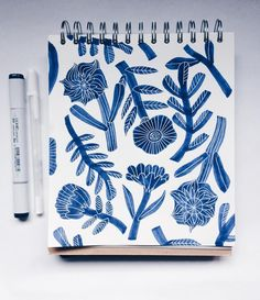 Blue marker restocked. penelope dullaghan, sketchbook.