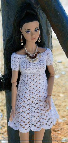 46 Best Ideas For Crochet Summer Dress Pattern Fun Crochet Barbie Clothes, Crochet Dolls, Crochet Baby, Crochet Top, Crochet Summer Dresses, Summer Dress Patterns, Crochet Bikini Pattern, Crochet Patterns, Moda Vintage