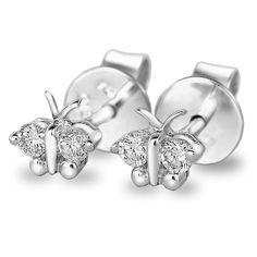 9K Diamond Butterfly Earrings, $299.10