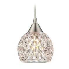 Elk Lighting Crystal Mini-Pendant Light with Clear Glass | 10341/1 | Destination Lighting