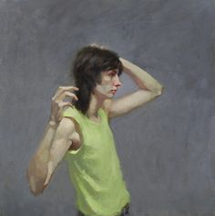 """""""Surrender """",  20""""x 20"""" oil on linen by Sandra Flood"""