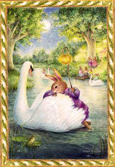 Holly Pond Hill collection by Susan Wheeler Susan Wheeler, Lapin Art, Motifs Animal, Bunny Art, Woodland Creatures, Children's Book Illustration, Whimsical Art, Cute Art, Illustrators