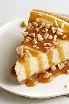 The flavors of sweet caramel apples pair up in this cheesecake ready in three easy steps. Keeping it simple never has tasted so luxurious. :)