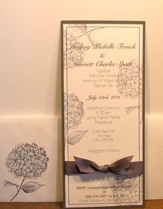 Lindsay's wedding invitation...all stampin up