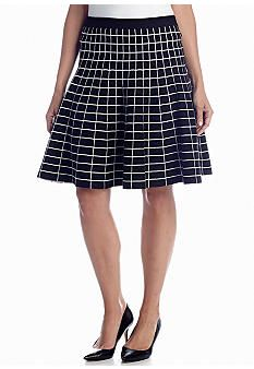 Black & White Collection: Grace Elements Square Print Skirt