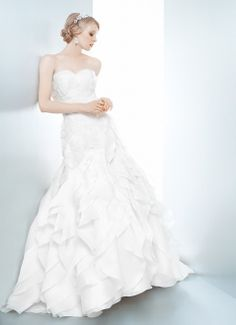 GARDENIA - Wedding Gown / 2013 Collection - by Matthew Christopher - Available colours : White & Off White