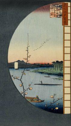 Japanese Art Prints, Japanese Artwork, Japanese Painting, Anime Scenery Wallpaper, Pastel Wallpaper, Wallpaper Backgrounds, Animes Wallpapers, Cute Wallpapers, Aesthetic Iphone Wallpaper