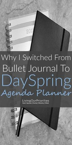 Behind every successful woman is a prayer and a planner! Read more to find why I switched from a Bullet Journal to the DaySpring Agenda Planner.