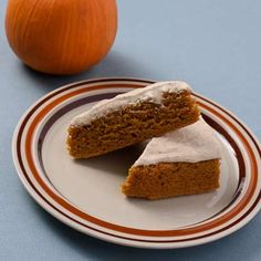 Moist pumpkin spice cake is brought up a notch with sweet and nutty brown butter icing.