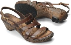 Born Womens Negril in T Moro A graceful slingback detailed with simply woven leather straps.  Full-grain leather    Leather lining