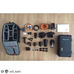 A really clean setup by @will hartl ・・・ Unpacking gear from the trip. Re packing for the next one. Going going back back to Bali Bali #work #travel #shoot #gear #canon #5dmkiii #pelicancase #lowepro #aquatech #applemac #sandisk #mycamerabag #canonaustralia @canonaustralia