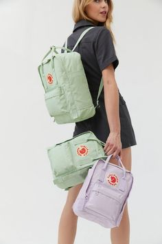 Shop Fjallraven Kanken Backpack at Urban Outfitters today. Cute Backpacks, School Backpacks, Bamboo Beaded Curtains, Hard Wear, How To Wear, Amazon Sale, Indie Outfits, Scrunchies, Adidas Originals