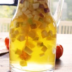 Pumpkin pie flavored sangria? Oh yes we did. Get the recipe at Delish.com. #delish #pumpkin #pie #pumpkinpie #sangria #fall #wine #withfruit #recipe #video #easy #alcohol #party #cocktail