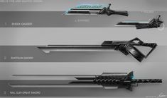 Weapon Design/Concept Art by nobody00000000.deviantart.com on @deviantART