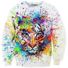 Tiger Blouse #full print #hipster #bloger #fashion #colors #animal