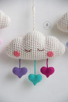 Nuage coeur crochet