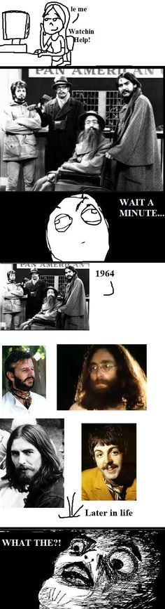 That was such a weird realization when watching the movie, even in A Hard Day's Night, with Paul's various disguises.