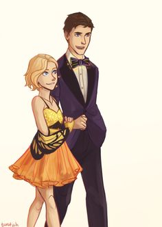 Cress in her butterfly costume and Thorne in his light up bowtie <3 <--- The light up bowtie my goodness XD Yaaay finally a fanart in which Cress is roughly short enough! Love this portrayal.