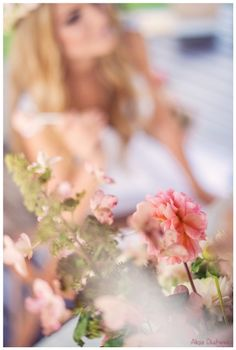 kwiaty i panna młoda
