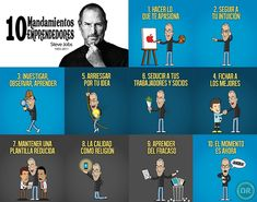 Los 10 mandamientos de Steve Jobs para #emprendedores Steve Jobs, Blogging, Marca Personal, Marketing Digital, Pokemon, Inspirational Quotes, World, Startups, Personal Development