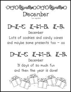 """December"" Song / Spelling"