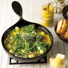 オイルサーディンと野菜のフォンデュ風