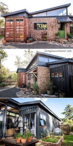 Cargo Container Homes, Building A Container Home, Container Buildings, Container Architecture, Container House Design, Tiny House Cabin, Small House Plans, Airbnb House, Casas Containers