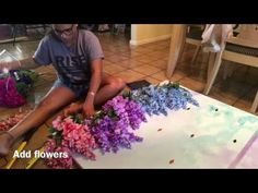 DIY Watercolor Photo Backdrop & Sign - YouTube