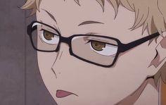 Tsukishima Kei, Haikyuu Karasuno, Kagehina, Anime Bebe, Anime Ai, Anime Guys, Haikyuu Manga, Haikyuu Funny, Haikyuu Wallpaper