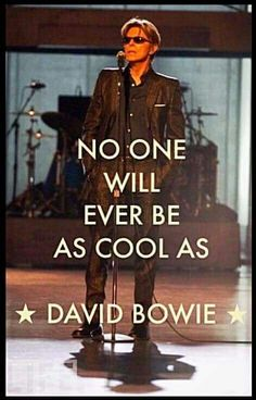 No one. David Bowie.                                                                                                                                                      More