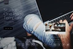 Startup One Page Template HTML by mesmeriseme.themes on @creativemarket