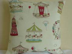 16  Cushion Cover Cotton Fryetts Fairground Seaside Chic Shabby Kids Funky Retro