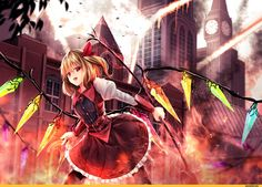 anime,Touhou Project,Anime Tenchou x Touhou Project, Project Shrine Maiden,flandre scarlet